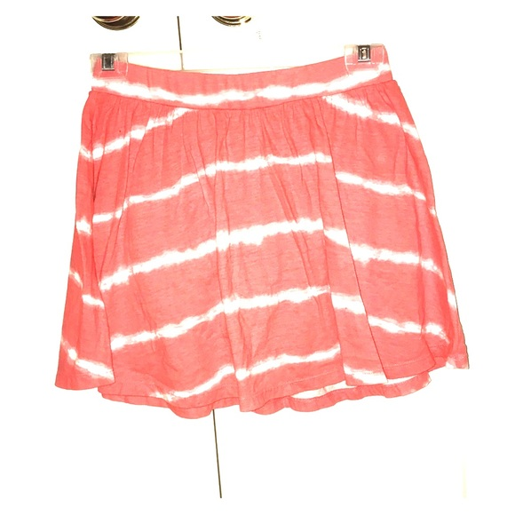 Old Navy Other - Salmon pink and white striped skirt